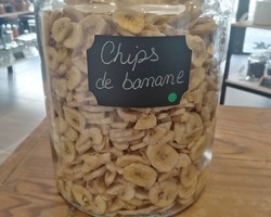 Chips de bananes séchées - Un Monde en Vrac - Marennes